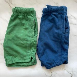 Zara bundle boys cotton blue and green sweatshorts
